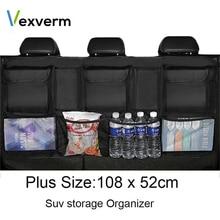 Große Größe Auto Trunk Organizer für SUV MPV Universal Rücksitz Organizer Auto Sitz Organizer Tasche Sitz Zurück Tasche Verstauen ordentlich