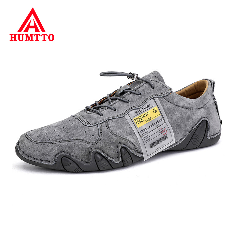 Promo Genuine Leather Adult Casual Shoes Men 2020 Spring Fashion Luxury Brand Non-slip Lace-up Mens Breathable Sneakers Big Size 38-46
