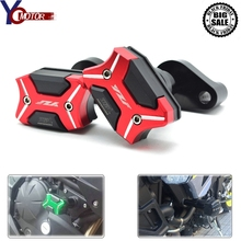 With YZF LOGO CNC Motorcycle Frame Crash Pads Engine Case Sliders Protector FOR Yamaha YZF R1 YZF-R1 2007 2008 Motor Accessories cnc frame crash pad engine case stator sliders protector for yzf r6 2006 2007 motorcycle