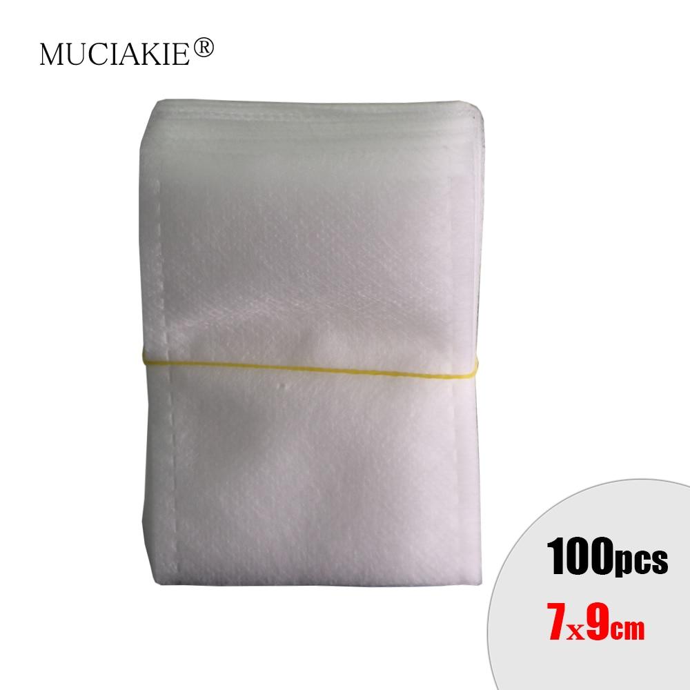 MUCIAKIE 100PCS 7x9cm Biodegradable Nursery Bags Fabric Plant Seedlings Grow Bags Eco-Friendly Pot Aeration Planting Bags