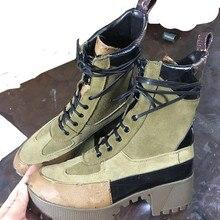 Осень-зима Martin Ботинки на плоской подошве; женские ботильоны; рабочие ботинки; повседневная женская обувь; кроссовки