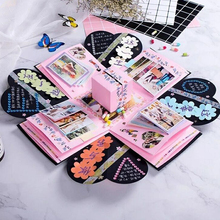 DIY Photo Black Birthday Party Unique Design Surprise Explosion Gift Box Fashion Paper Creative
