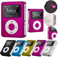 Venda quente portátil usb mini mp3 player tela lcd suporte 32gb micro sd tf cartão alto-falante design elegante esporte leitor de música