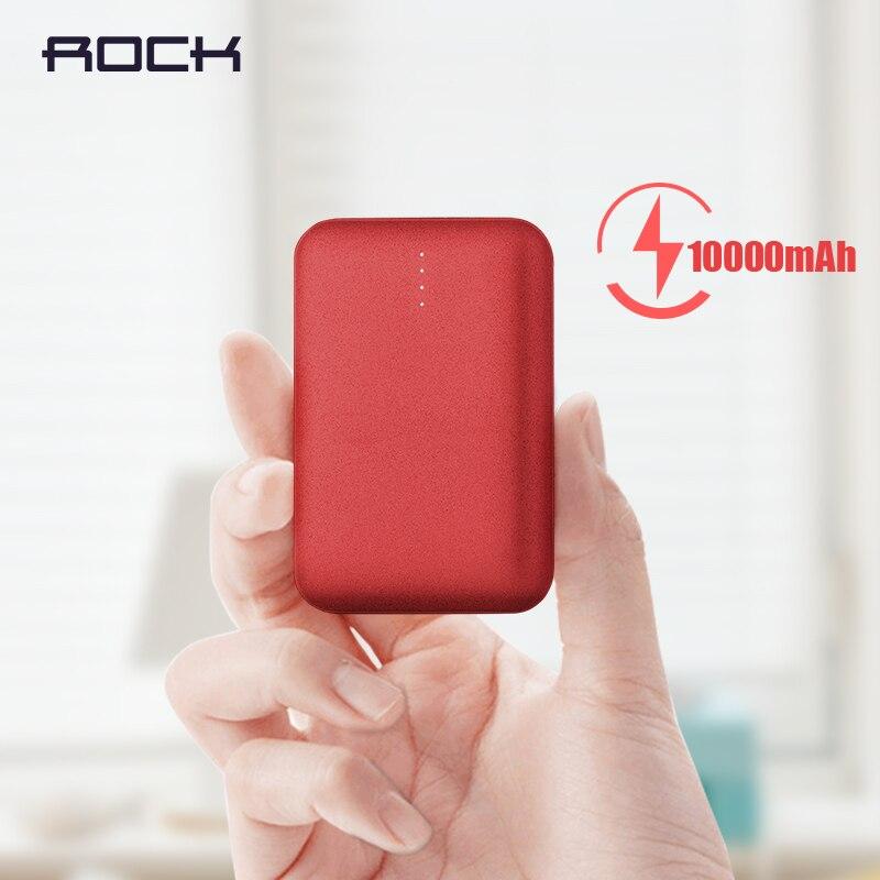 10000 mah banco de potência para xiaomi powerbank rock mini bateria de polímero ultra-fino portátil para iphone samsung xiaomi banco de energia