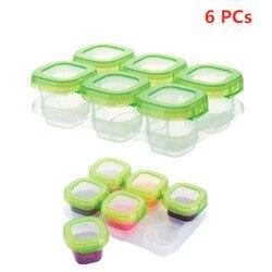 6 Stuks Baby Plastic Voedsel Containers Mini Spenen Bevriezing Potten Dozen Vriezer Opbergdoos Bpa Gratis