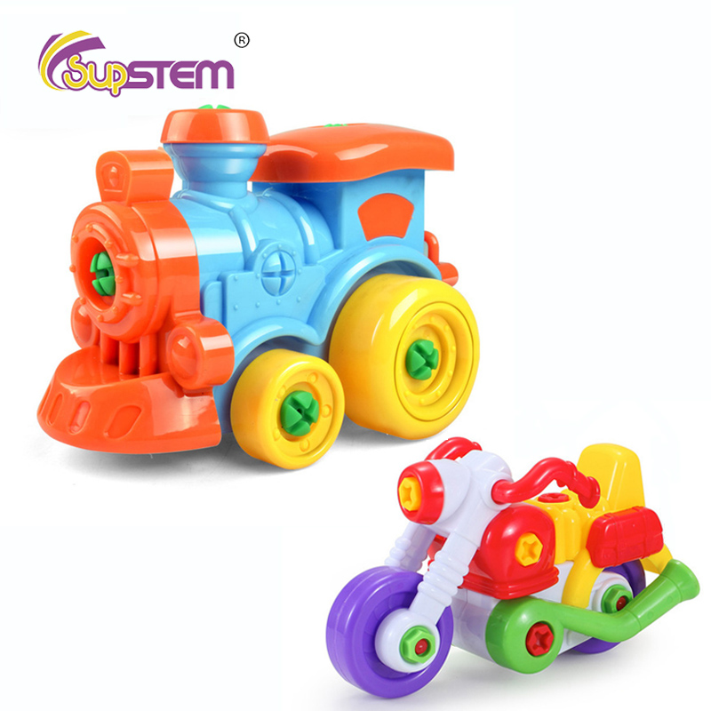 Early Learning Education DIY Screw Nut Group Installed Plastic 3D Puzzle Model Building Toys Disassembly Kids Toys
