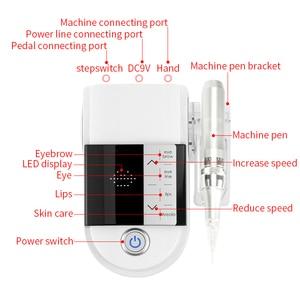 Image 4 - Новое поступление светильник и Удобная тату машина для бровей губ Eyeline цифровой Перманентный макияж машина ручка комплект