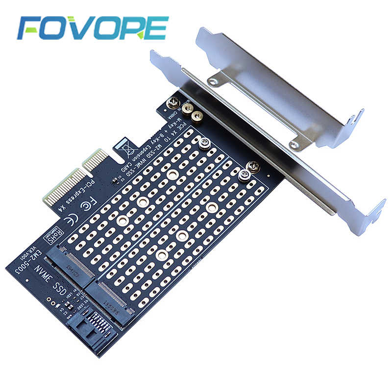 Dodaj karty PCIE do M2/M.2 Adapter SATA M.2 SSD PCIE Adapter NVME/M2 PCIE SSD M2 do SATA karta PCI-E M klucz + B klucz