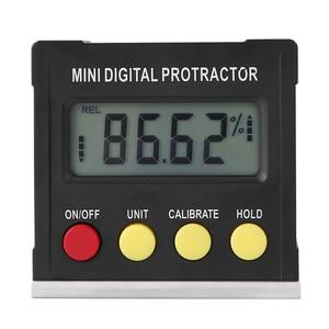 Image 4 - אופקי זווית מד זוית Inclinometer אלקטרוני רמת תיבת מגנטי בסיס מדידת כלים