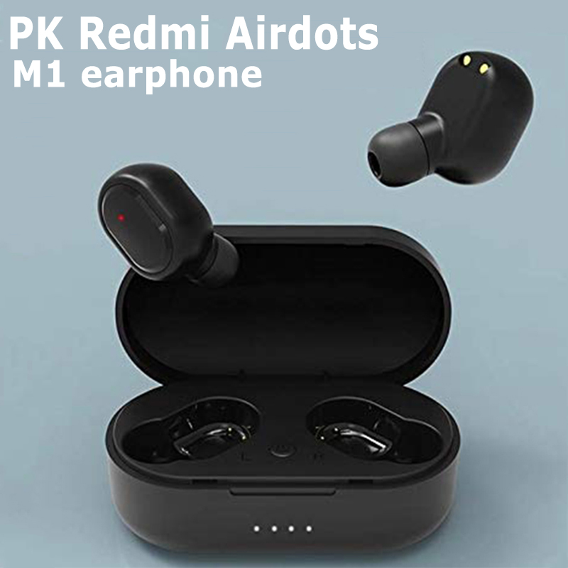 TWS M1 Wireless Bluetooth Headsets VS Redmi Airdots Earbuds Wireless Earphones With Mic Earbuds For IPhone Xiaomi Huawei Samsun
