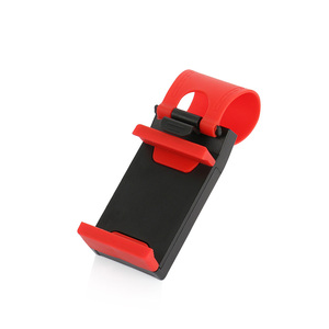 Image 3 - Universal Car Camera Steering Wheel Clip Phone Holder for IPhone 8 7 7Plus 6 6s Samsung Xiaomi Huawei Mobile Phone GPS