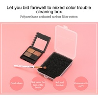 Cleaning Mat Box Powder Brush Washing Cosmetic Clean Kits Makeup Brush Cleaner Sponge Remover Color Off Makeup Brushes New H