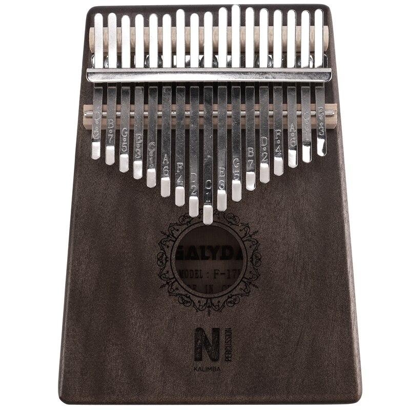 17 Keys Kalimba Sun Flower Thumb Piano Mahogany Wood Finger Piano Musical Instrument With Tuner Hammer Storage Box