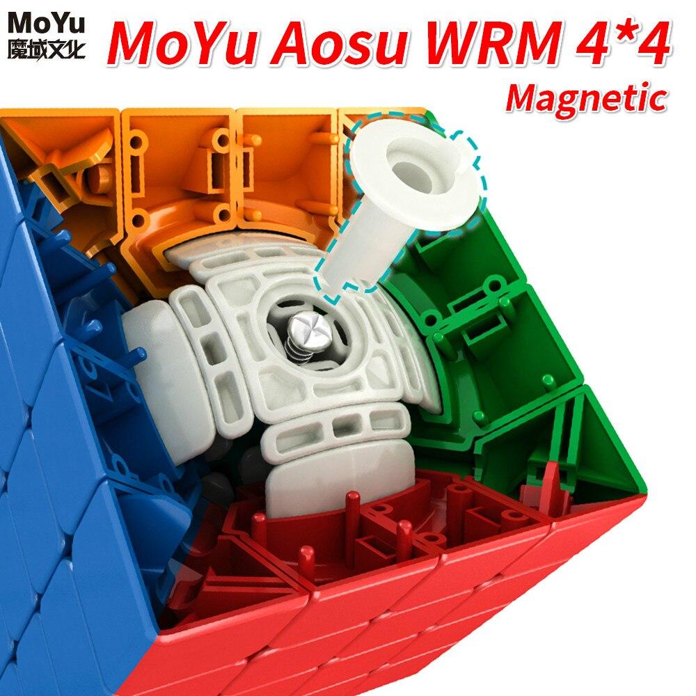 Nouveau Moyu Aosu WRM 4x4x4 SpeedCube magnétique 59mm GTS AOSU WRM SpeedCube professionnel Cube magique jouets pour enfants AOSU WR M