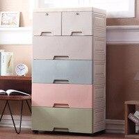 Hua er New Style Infant Child Toy Storage Box Storage Cabinets Large Size Plastic Drawer type Underwear Finishing Box Five bucke