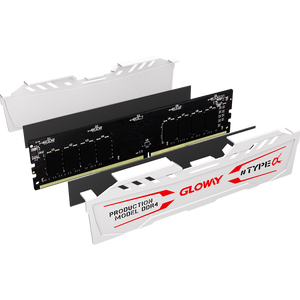 Image 4 - new arrival Gloway TYPE a series  white  heatsink ram ddr4 8gb  16gb 2400mhz 2666mhz for desktop with high performance