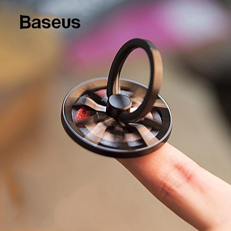 Baseus Gyro doigt porte-anneau main Spinner rotatif Rotation métal Mobile support pour téléphone support pour iPhone Samsung téléphone porte-anneau