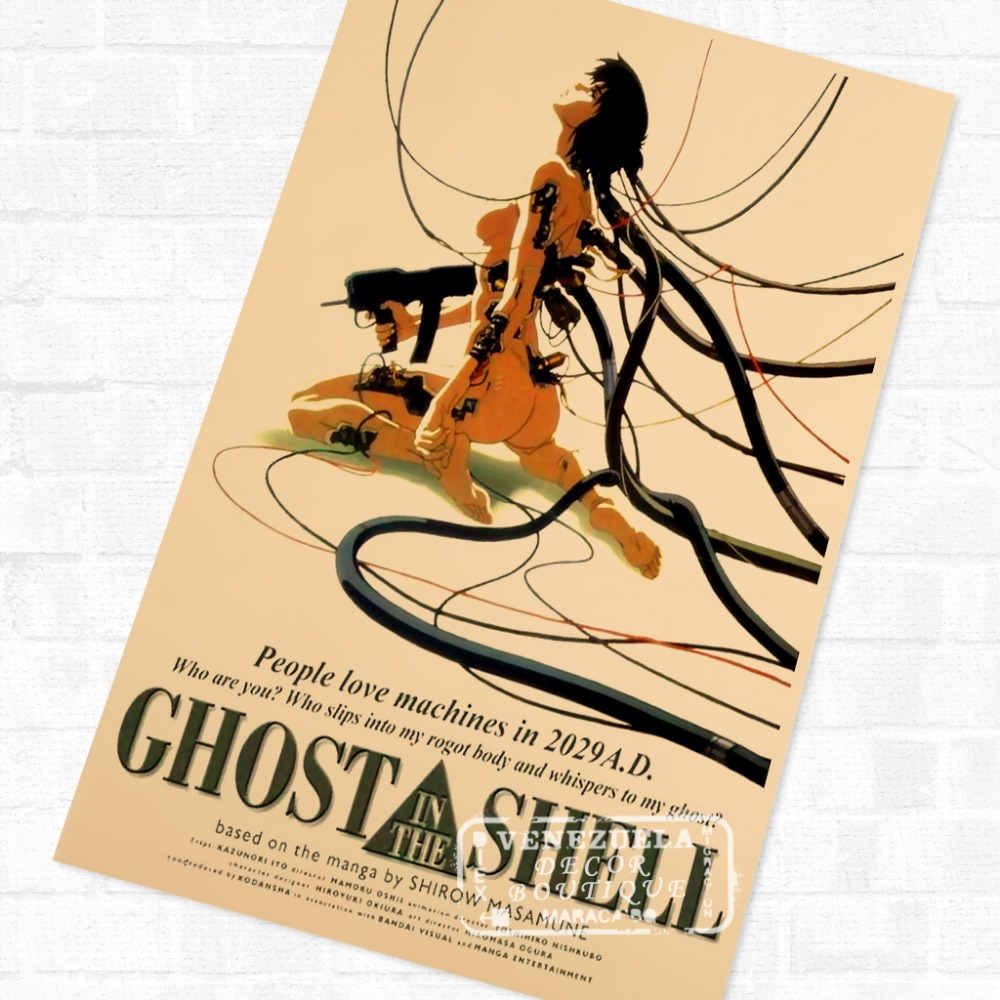 Classic Ghost In The Shell Anime Sci Fi Movie Film Vintage Retro Cool Poster Canvas Diy Wall Stickers Home Posters Art Decor Wall Sticker Art Decorstickers Home Aliexpress