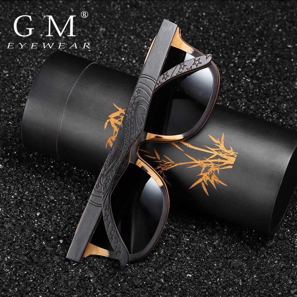 GM Luxury Skateboard Wood Sunglasses Vintage Black Frame Wooden Sunglasses Women Polarized Men's Bamboo Wood Sunglasses S5832