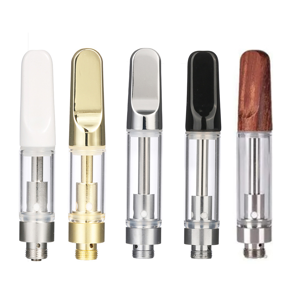 Atomizer  Vape Ceramic Tip Oil Cartridge Coil Vaporizer Pen Cartridges For CBD 510 Thread 1.2ohm