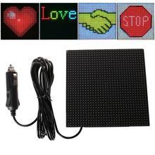 Tam renkli kablosuz bluetooth App kontrolü araç LED ekran ekran kaydırma LED işareti, sürüş talimatı, resim GIF ışık