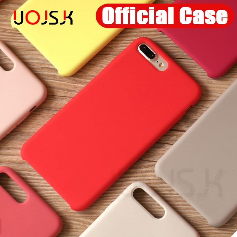 Luxury Silicone Phone Case For IPhone 11 Pro Max X Xs Max XR Case On Apple iPhone X 10 6s 6 7 8 Plus Cover Official Original Bag image