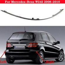 Tira reflexiva do cromo do amortecedor do carro para mercedes-benz b classe w245 2008-2010 1698851921 a1698851721 aviso chapeamento tira brilhante