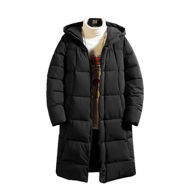 Парка 2020 Повседневная Классическая зимняя куртка мужская черная зеленая ветровка теплое Стеганое пальто с капюшоном модная верхняя одежда пальто