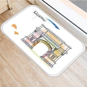 Image 4 - コミック名建物ノンスリップ寝室装飾カーペット台所の床リビングルームのフロアマット浴室ノンスリップドアマット40x60センチメートル。