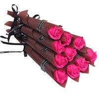 1Pcs Artificial Dried Flowers Rose Flower Multicolor Rose Bouquet Scrapbooking Fake Rose Wedding Flower Decoration