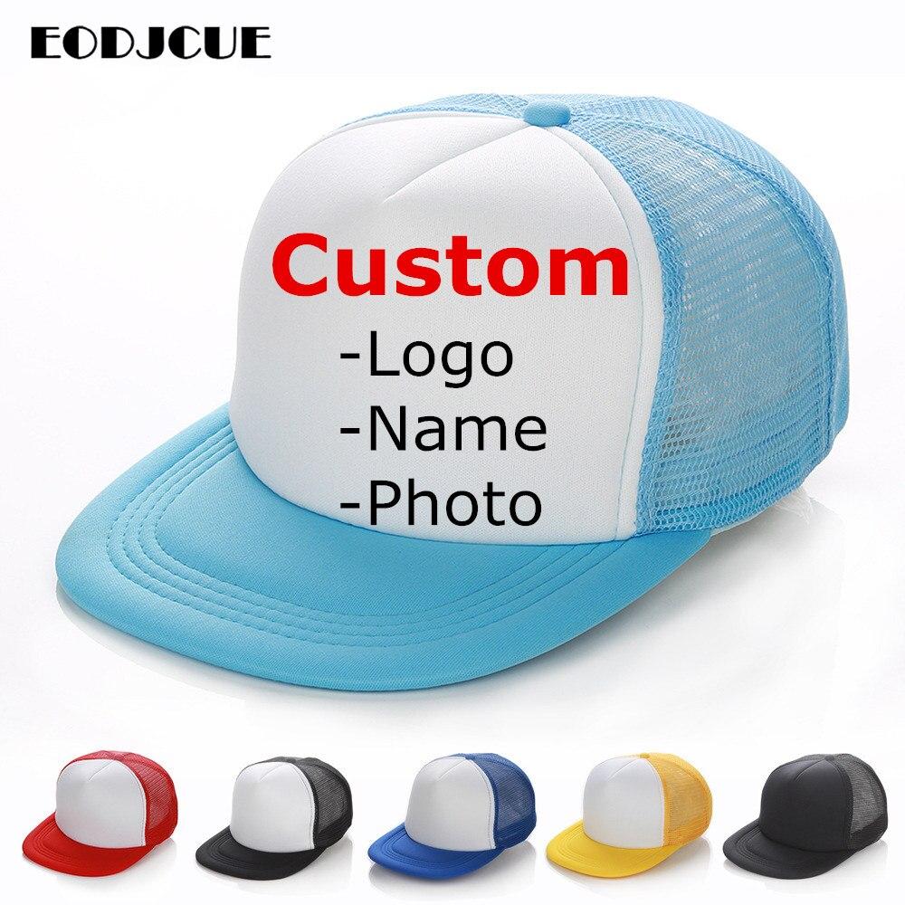 Factory price! Free Custom LOGO Design Men Women Baseball Cap For Kids Adult Mesh Snapback Hip Hop Hat Trucker Hat gorras