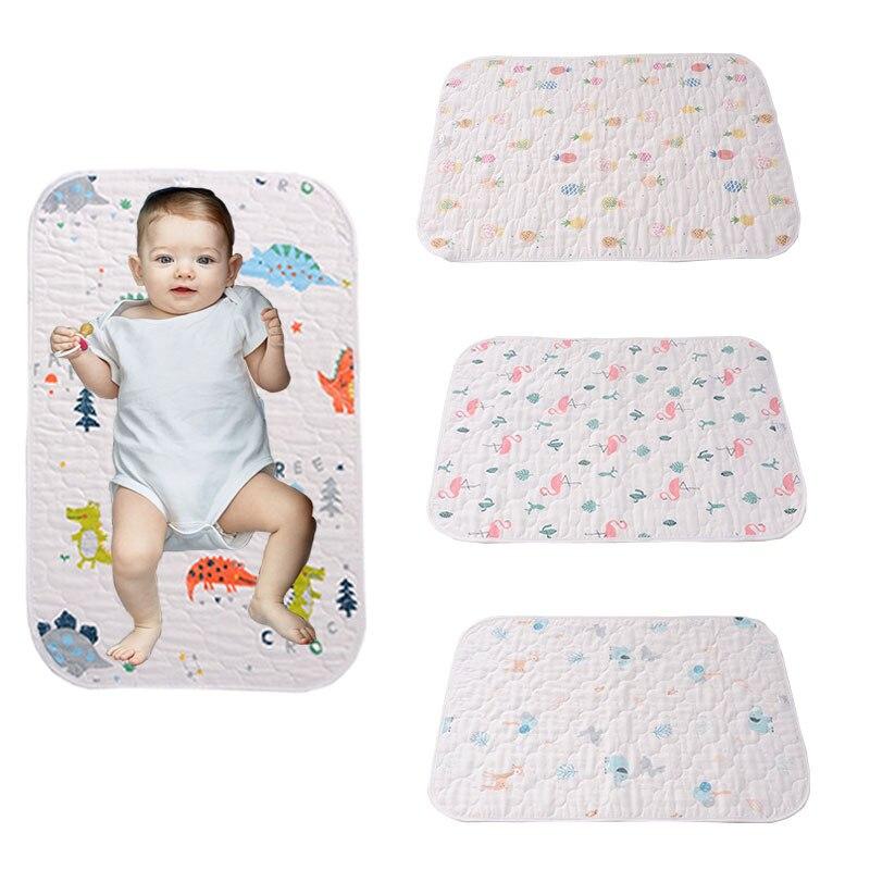 HereNice Baby Crib Fitted Bed Sheet Infant Mattress Cover Kids Waterpfoof Bedding Set Mat Girls Boys Dinosaur Cartoon Diaper Pad