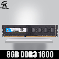 VEINEDA-módulo de Memoria RAM para ordenador de escritorio, DDR3, 4gb, 8gb, PC3, 1333, 1600, 1333MHZ, 1600, 10600, 12800, 4G, 8G