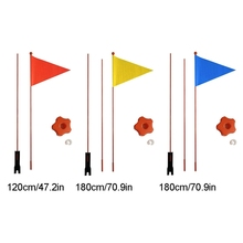 Children Bicycle Flag Safety  bicycle pennant Flag For Boys And Girls Cycling R66D