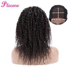 Plecare 4*4 кудрявые человеческие волосы парик кружева Закрытие человеческих волос парики для черных женщин бразильские не Реми волосы естественного цвета