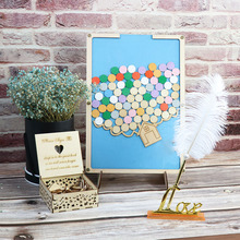 Personalized Wooden Color Wedding Guest Book  Gifts for Guests Handcrafted Engagement Party Decor