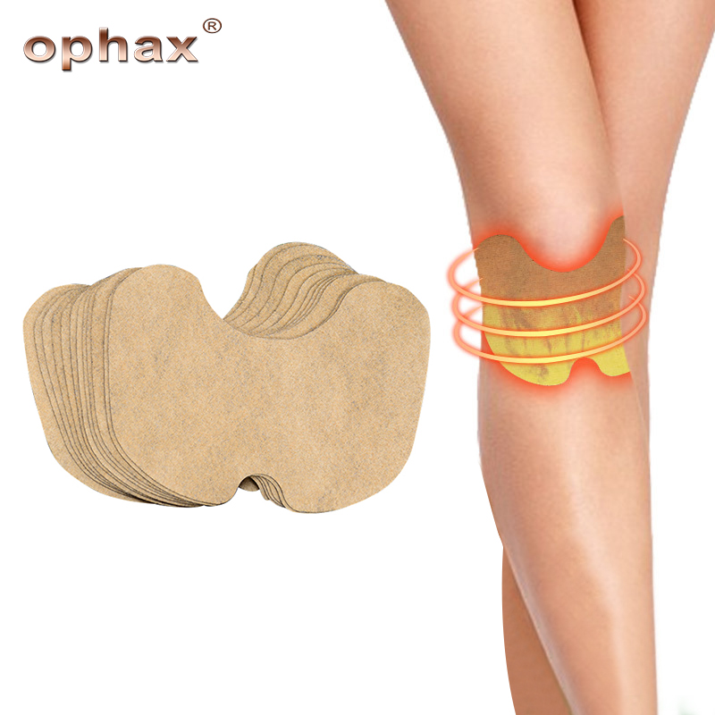 Self Heating Knee Moxa Patch Hot Moxibustion Plaster Leg Neck Cervical Relief Pain Wormwood Sticker Warming Meridians