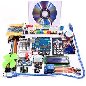 Image 1 - Wifi 모듈, 130 모터, HC SR501, 1602, 릴레이, HC sr04, arduino uno r3 용 RGB 모듈이있는 슈퍼 스타터 키트