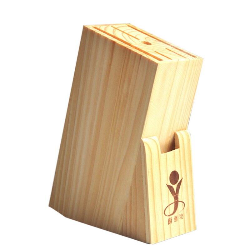 Creative Multifunctional Holes Bamboo Knife Rack Storage Rack Tool Wood Kitchen Knife Holder Knife Stand Block Organizer Tool
