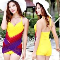 2019 New Summer Women Solid Color One Piece Swimsuit Women Padded Swimwear Bandage Cut Out Mnokini Bathing Suit Swimwear