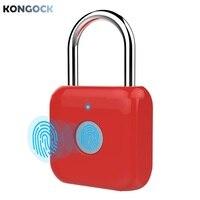 Cadeado esperto da impressão digital do anti-roubo  mini fechadura elétrica keyless eletrônica portátil do armário para sacos das portas e bagagem etc