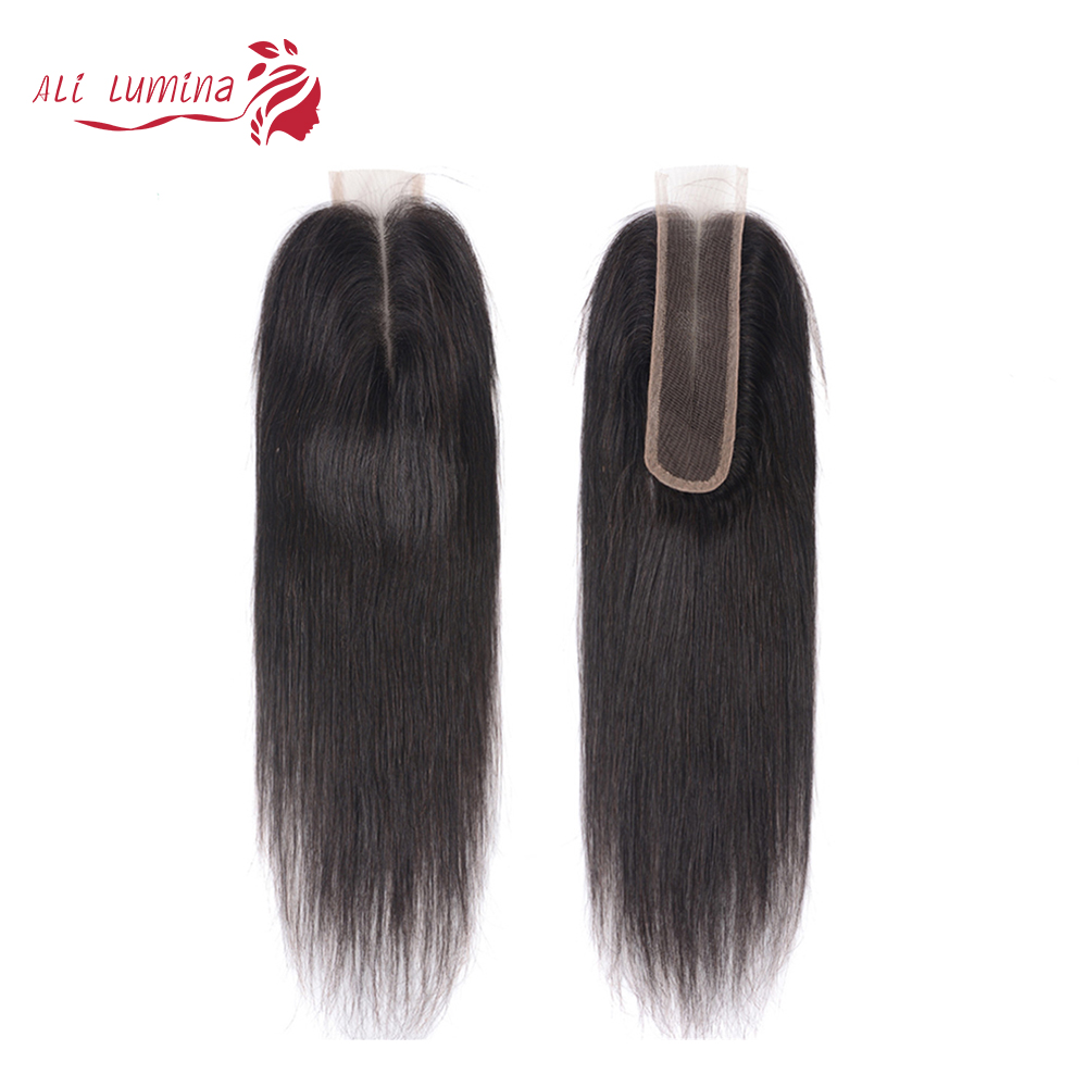Kim K Closure   Middle Part Lace Closure Straight Natural Color 2x6 Closure Body Wave  With Baby Hair 1