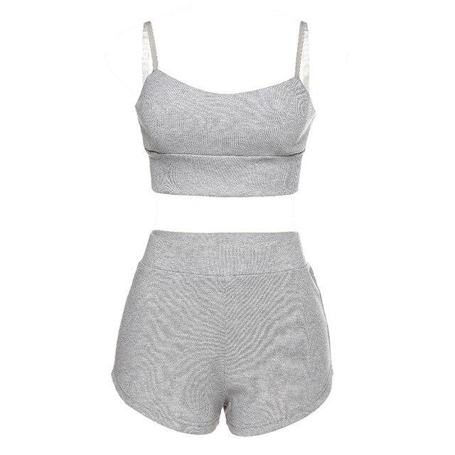 New Oversize  Girls Summer Blouse Women Suit Short Sleeves Shirt Tops High Waist shorts Two Piece Shorts Suits 5