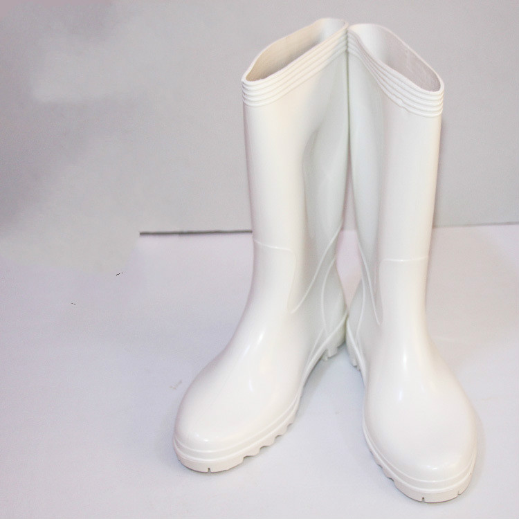 PVC White Food Boots Oil-resistant Acid-resistant Boots Chemical Boots Mold Rain Boots Wear-resistant Anti-slip