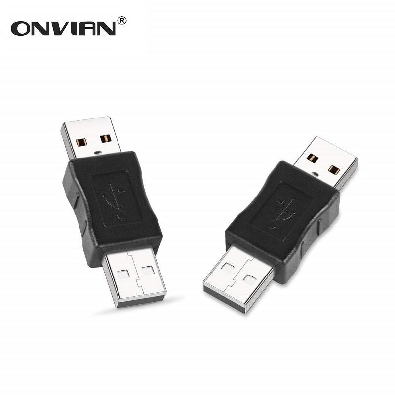 Onvian USB Male To USB Male Gender Changer Adapter OTG USB Extender Coupler Converter For PC Laptop
