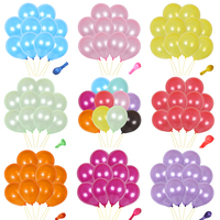 500pcs 12inch Solid color latex balloon Thickening Pearl Inflatable Air balloon Wedding birthday Party decoration Ball kids toys