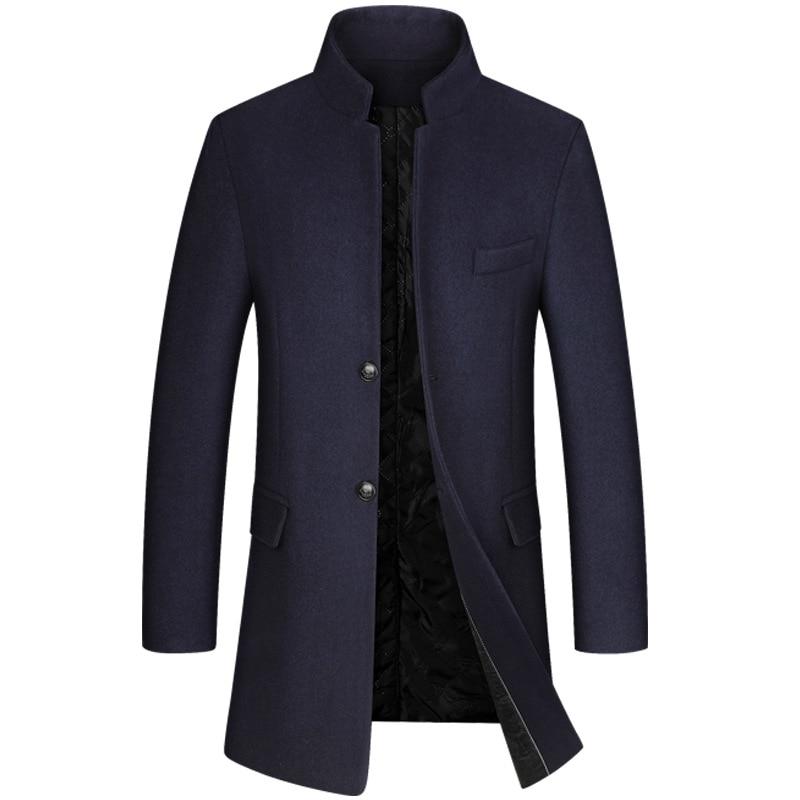 Middle-aged Men's Woolen Overcoat Windbreaker Jacket Men's Overcoat Men Coat Winter  Men Coat Winter  Mens Coats  MensOvercoats