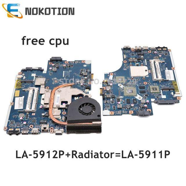 NOKOTION MBPTQ02001 MBNA102001 LA 5912P Voor Acer aspire 5551 5552 5551G 5552G PC Moederbord compatibel Met LA 5911P gratis cpu
