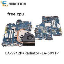 NOKOTION carte mère pour Acer aspire LA 5912P, 5551, 5552G, 5551G, 5552G, compatible avec processeur LA 5911P gratuit, MBPTQ02001 et MBNA102001