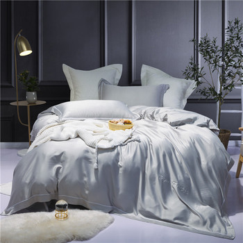 Snow white Moder cotton bedding set bed linens  embroidery girls duvet cover 4PCs queen king size sheets
